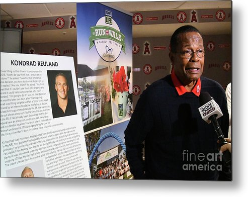 People Metal Print featuring the photograph Rod Carew by Jayne Kamin-oncea