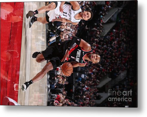 Nba Pro Basketball Metal Print featuring the photograph Rodney Hood by Sam Forencich