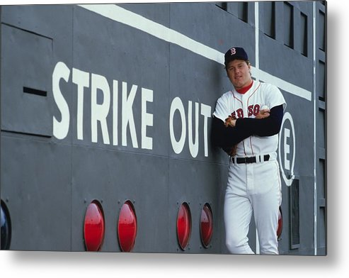 1980-1989 Metal Print featuring the photograph Roger Clemens by Ronald C. Modra/sports Imagery