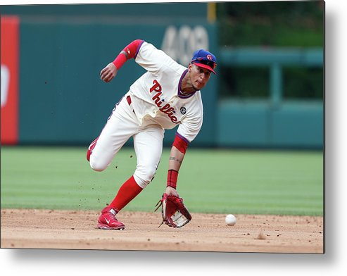 People Metal Print featuring the photograph Ronny Cedeno by Brian Garfinkel