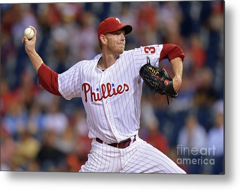 Three Quarter Length Metal Print featuring the photograph Roy Halladay by Drew Hallowell