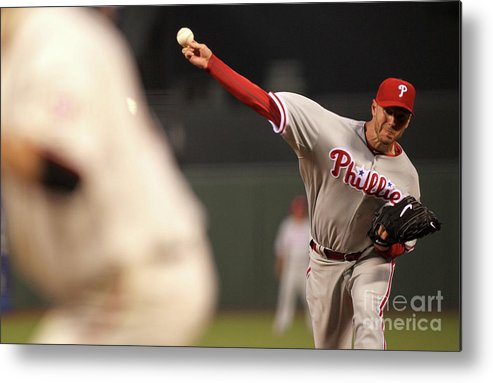 California Metal Print featuring the photograph Roy Halladay by Jed Jacobsohn