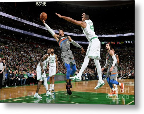 Nba Pro Basketball Metal Print featuring the photograph Russell Westbrook by Brian Babineau