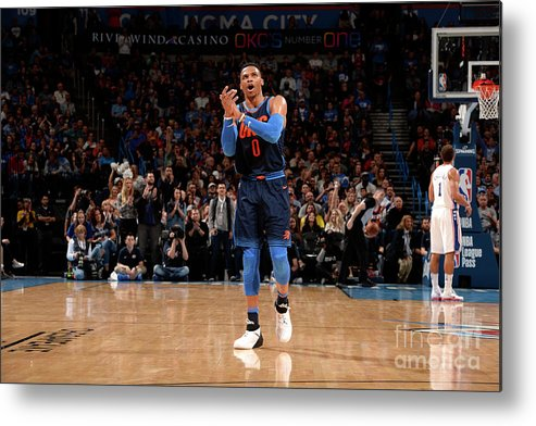 Nba Pro Basketball Metal Print featuring the photograph Russell Westbrook by David Dow