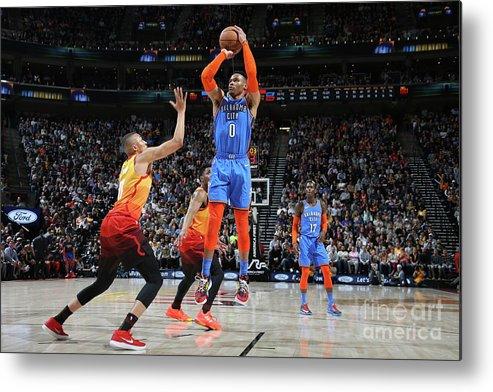 Nba Pro Basketball Metal Print featuring the photograph Russell Westbrook by Melissa Majchrzak