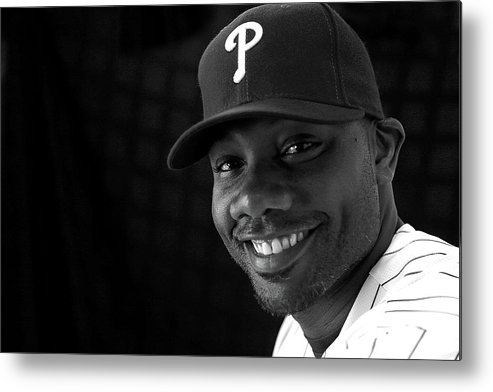 Media Day Metal Print featuring the photograph Ryan Howard by Mike Ehrmann