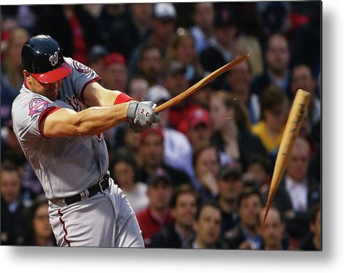 Three Quarter Length Metal Print featuring the photograph Ryan Zimmerman by Maddie Meyer