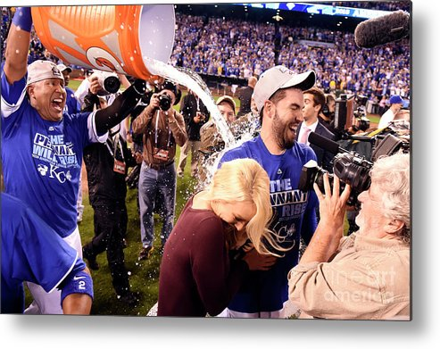 Playoffs Metal Print featuring the photograph Salvador Perez by Lg Patterson