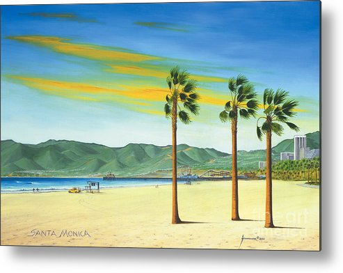 Santa Monica Metal Print featuring the painting Santa Monica by Jerome Stumphauzer