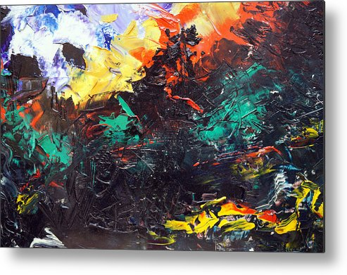 Vision Metal Print featuring the painting Schizophrenia by Sergey Bezhinets
