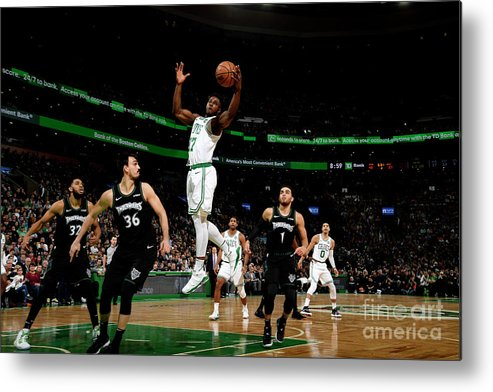 Nba Pro Basketball Metal Print featuring the photograph Semi Ojeleye by Brian Babineau