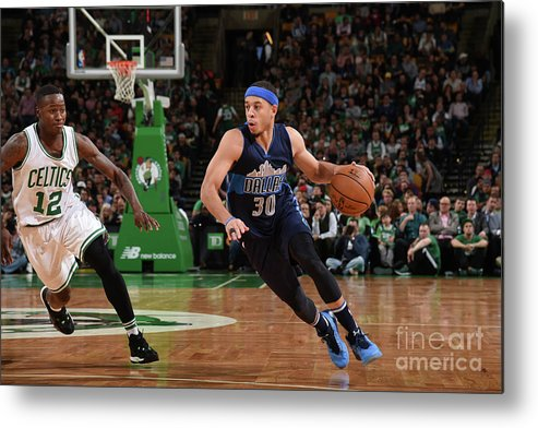 Nba Pro Basketball Metal Print featuring the photograph Seth Curry by Brian Babineau