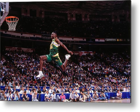 Nba Pro Basketball Metal Print featuring the photograph Shawn Kemp by Nathaniel S. Butler