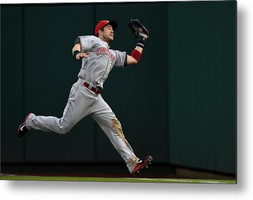 American League Baseball Metal Print featuring the photograph Skip Schumaker and Anthony Rendon by Patrick Smith