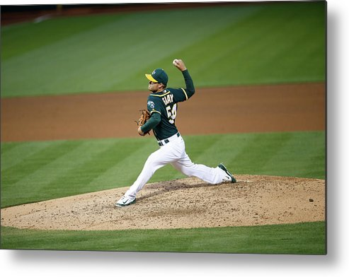 People Metal Print featuring the photograph Sonny Gray by Michael Zagaris