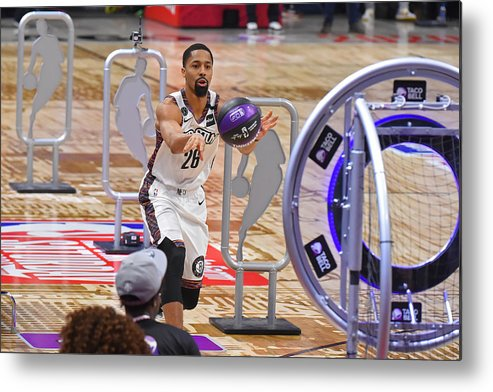 Nba Pro Basketball Metal Print featuring the photograph Spencer Dinwiddie by Bill Baptist