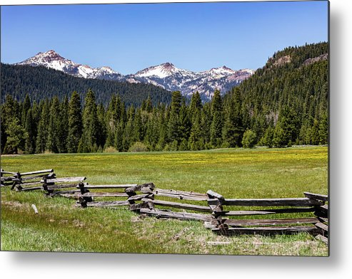Mountains Metal Print featuring the photograph Springtime in NorCal by John Heywood