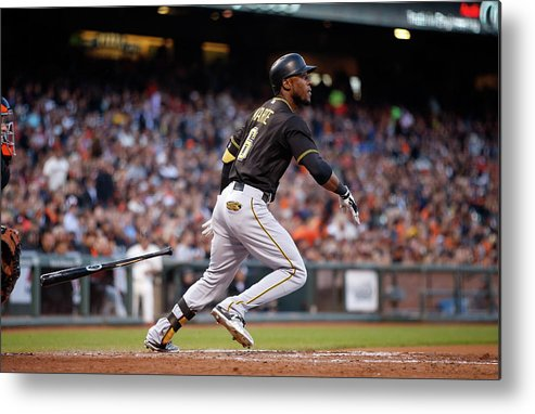 San Francisco Metal Print featuring the photograph Starling Marte by Ezra Shaw