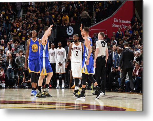 Playoffs Metal Print featuring the photograph Stephen Curry and Klay Thompson by Andrew D. Bernstein