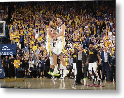 Playoffs Metal Print featuring the photograph Stephen Curry and Klay Thompson by Joe Murphy