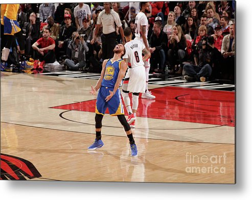 Playoffs Metal Print featuring the photograph Stephen Curry by Cameron Browne
