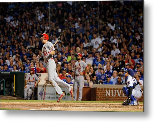St. Louis Cardinals Metal Print featuring the photograph Stephen Piscotty by Jon Durr