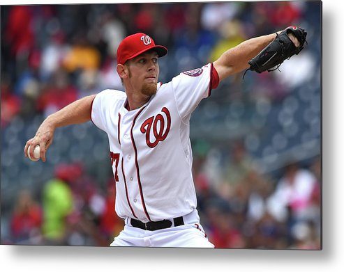 Working Metal Print featuring the photograph Stephen Strasburg by Patrick Smith