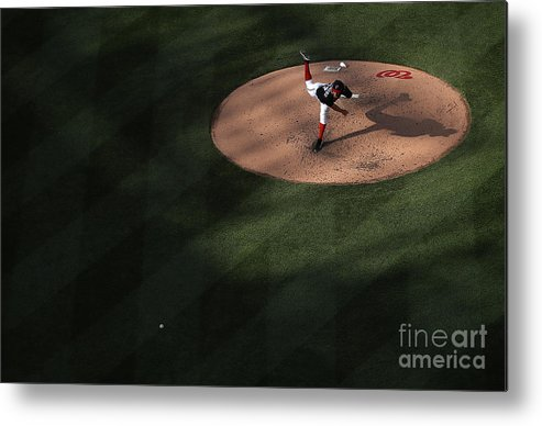 People Metal Print featuring the photograph Stephen Strasburg by Win Mcnamee