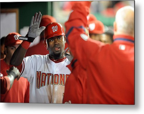 Second Inning Metal Print featuring the photograph Tanner Roark by Greg Fiume