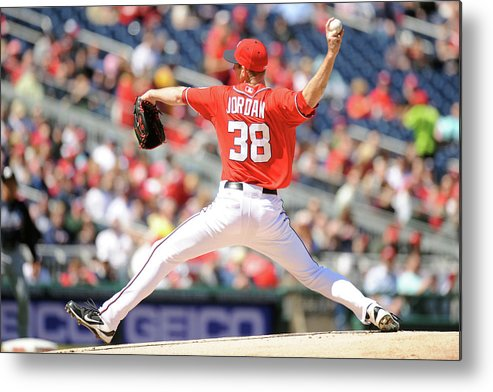Baseball Pitcher Metal Print featuring the photograph Taylor Jordan by Mitchell Layton