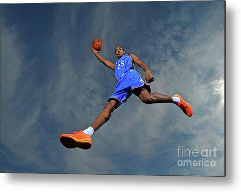 Nba Pro Basketball Metal Print featuring the photograph Terrance Ferguson by Jesse D. Garrabrant