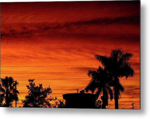 Sunset Metal Print featuring the photograph The Fire sky by Daniel Cornell