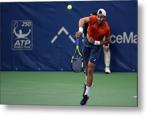 Tennis Metal Print featuring the photograph The Memphis Open - Day 4 by Stacy Revere