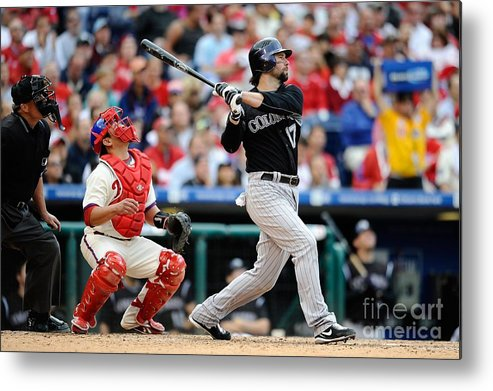 Playoffs Metal Print featuring the photograph Todd Helton by Jeff Zelevansky