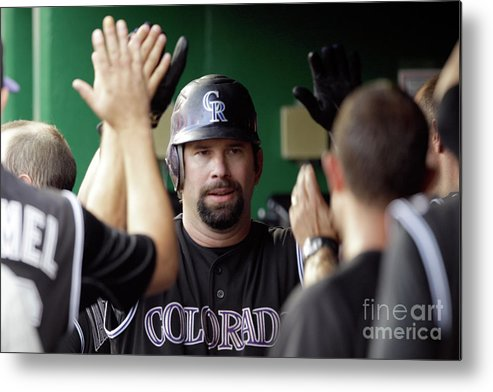 People Metal Print featuring the photograph Todd Helton by Rob Carr
