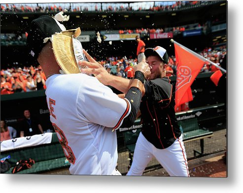 Following Metal Print featuring the photograph Tommy Hunter And Steve Pearce by Rob Carr