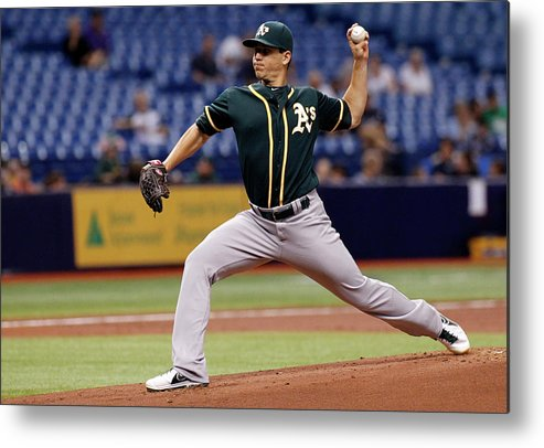 American League Baseball Metal Print featuring the photograph Tommy Milone by Brian Blanco