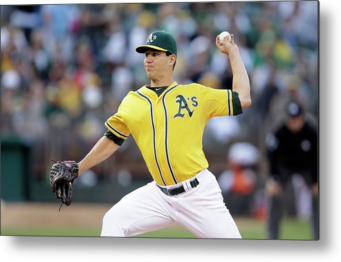 American League Baseball Metal Print featuring the photograph Tommy Milone by Ezra Shaw