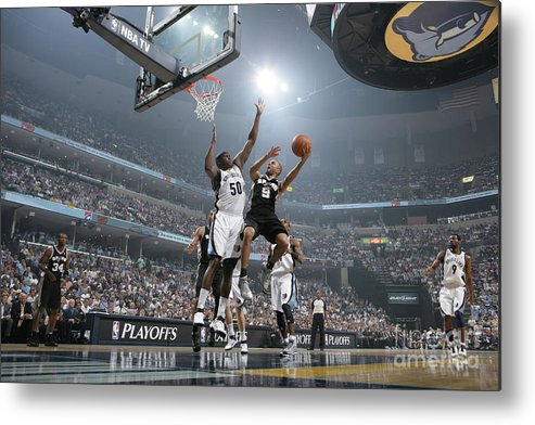 Playoffs Metal Print featuring the photograph Tony Parker by Joe Murphy