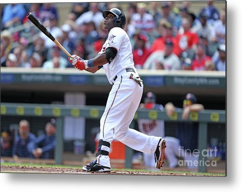 Second Inning Metal Print featuring the photograph Torii Hunter by David Sherman