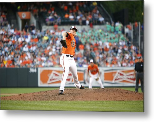 Ninth Inning Metal Print featuring the photograph Toronto Blue Jays v Baltimore Orioles by Jonathan Ernst