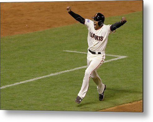 Playoffs Metal Print featuring the photograph Travis Ishikawa by Jason O. Watson