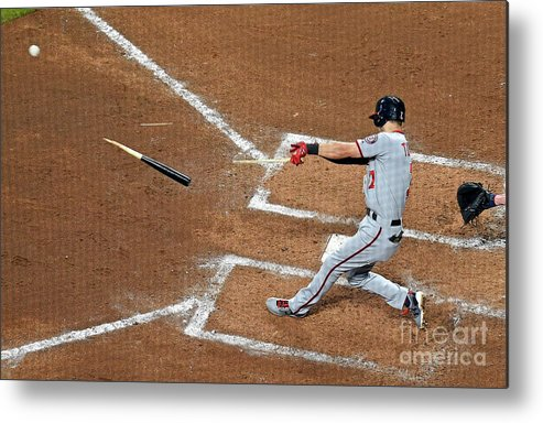 Atlanta Metal Print featuring the photograph Trea Turner by Scott Cunningham