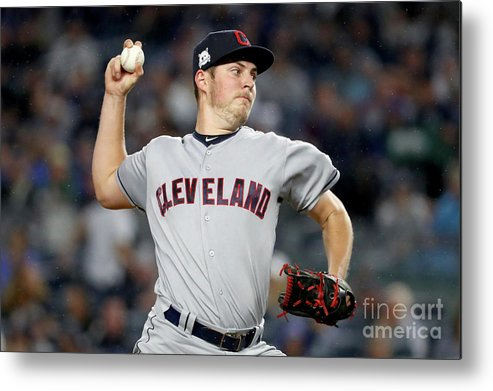 Three Quarter Length Metal Print featuring the photograph Trevor Bauer by Al Bello