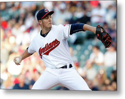 Three Quarter Length Metal Print featuring the photograph Trevor Bauer by David Maxwell