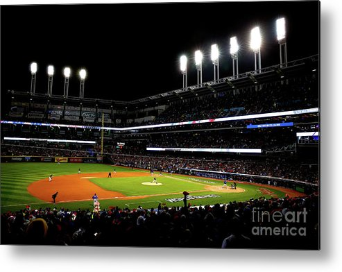 Game Two Metal Print featuring the photograph Trevor Bauer by Jamie Squire