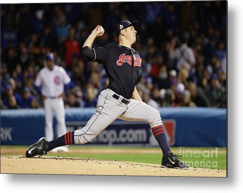 People Metal Print featuring the photograph Trevor Bauer by Jonathan Daniel
