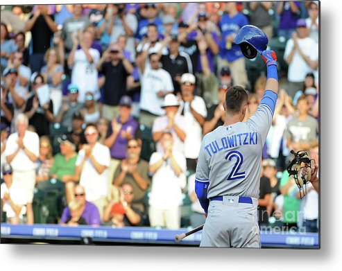 Crowd Metal Print featuring the photograph Troy Tulowitzki by Bart Young