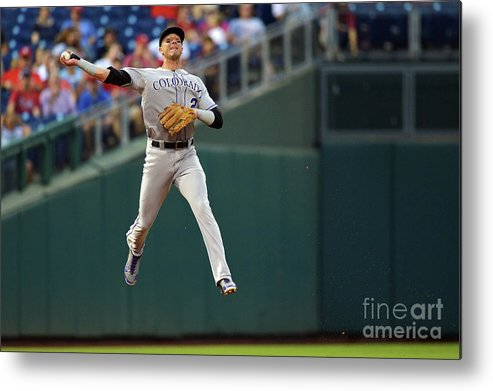 Second Inning Metal Print featuring the photograph Troy Tulowitzki by Drew Hallowell