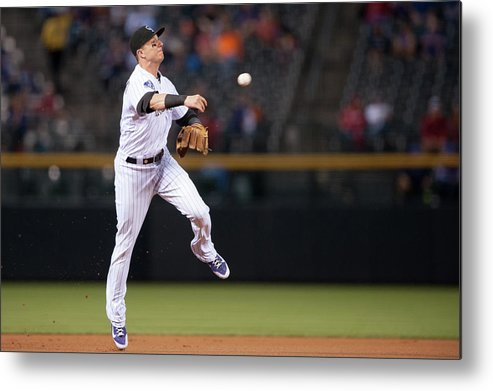 Ball Metal Print featuring the photograph Troy Tulowitzki by Dustin Bradford